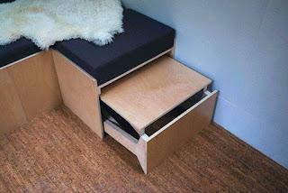 corner seat with storage