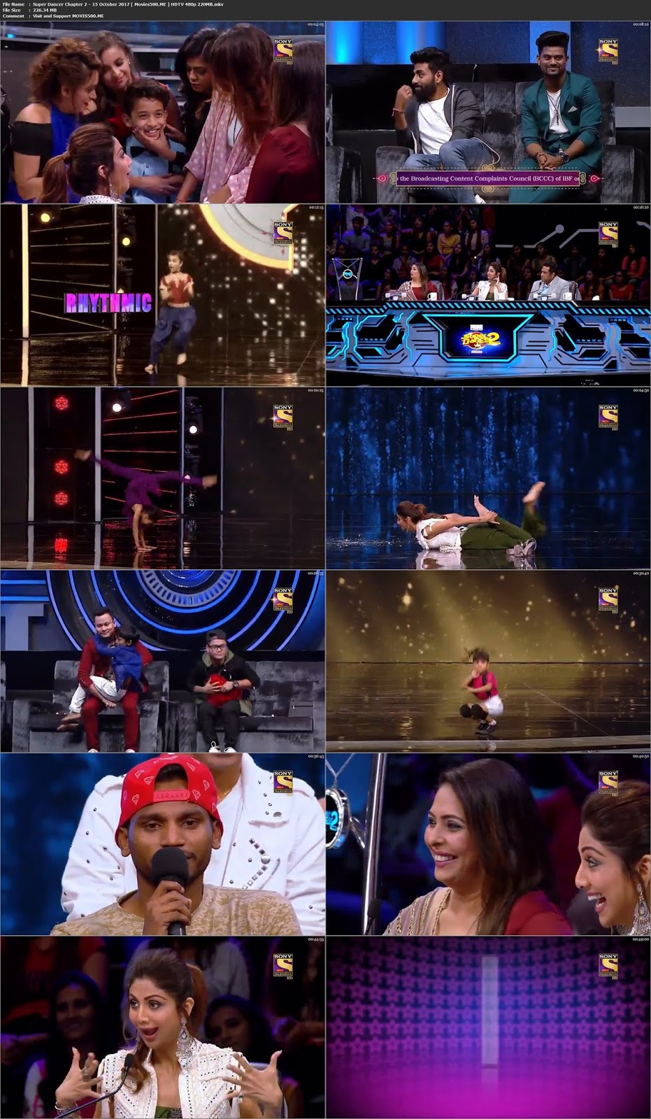 Super Dancer Chapter 2 2017 15 October 226MB HDTV 480p at movies500.info