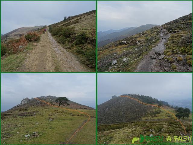 Ruta al Pico Gobia y La Forquita: Caminos de Bustaco a el Fitu