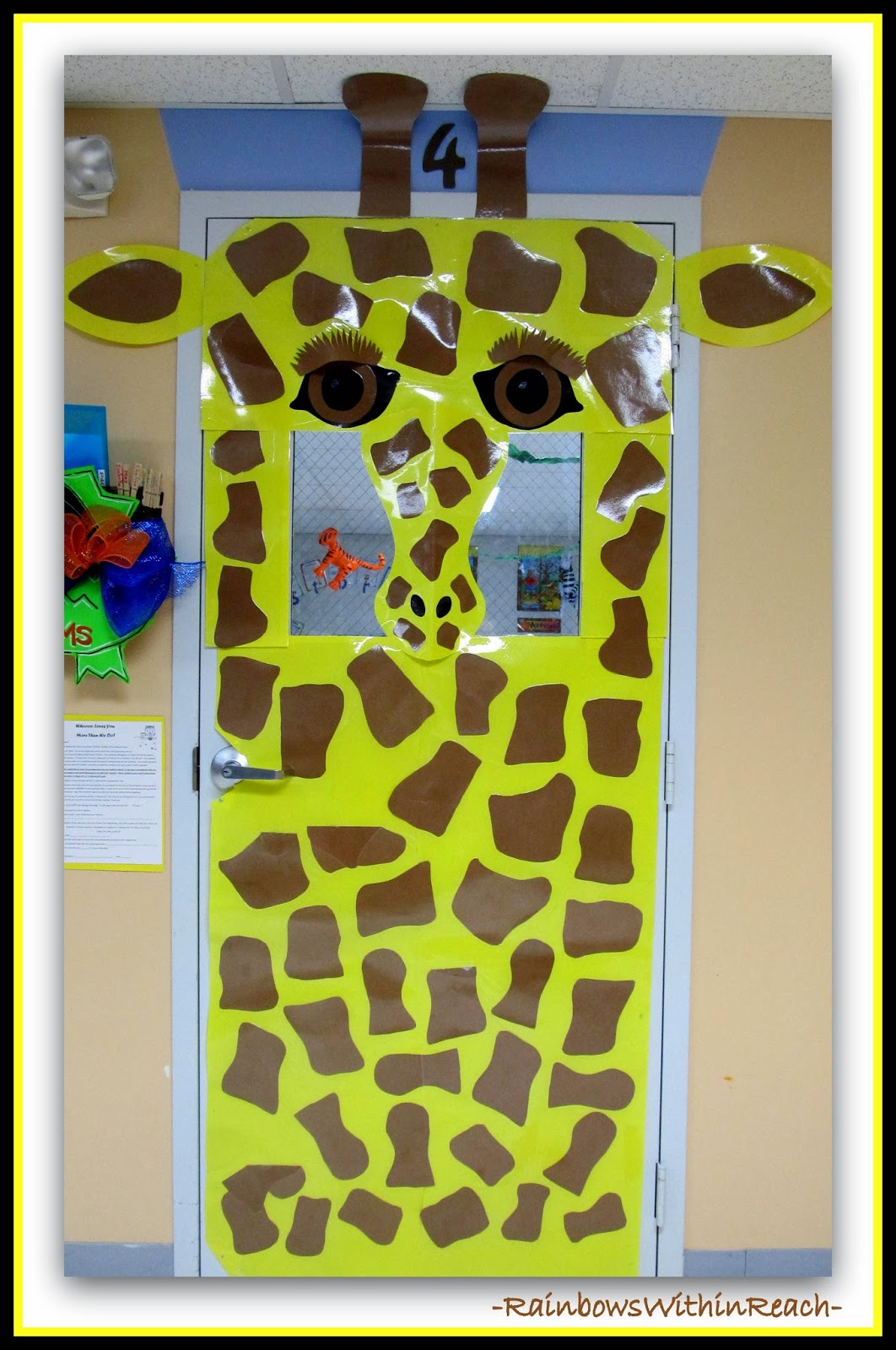 Rainbowswithinreach Jungle Animals As Door Decorations In Preschool