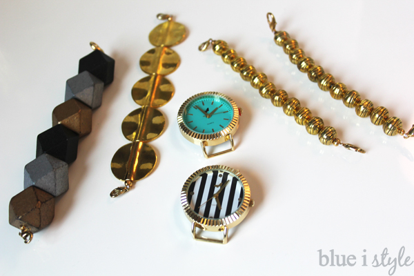 DIY Interchangeable Gold Beaded Watch Bands