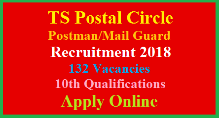 TS Postal Circle Postman/Mail Guard Direct Recruitment Notification 2018-Register Online