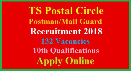 TS Postal Circle Postman/Mail Guard Direct Recruitment Notification 2018-Register Online
