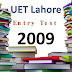[pdf] UET lahore Entry Test Past Paper year 2009 free Download