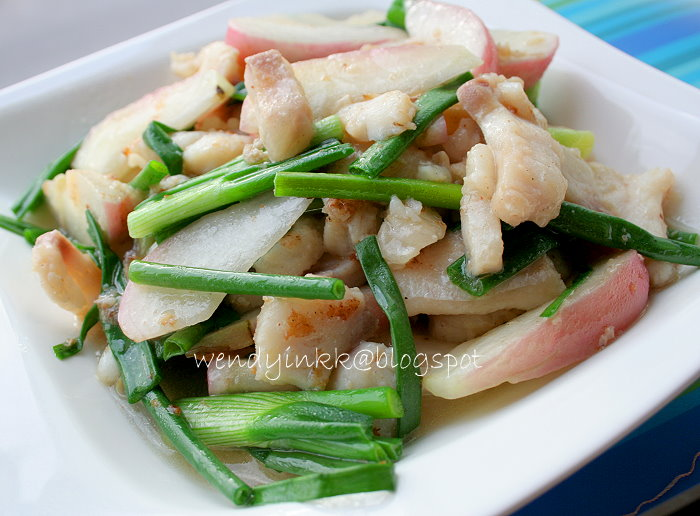 Table for 2     or more: Stir Fried Fish with Wax Apple