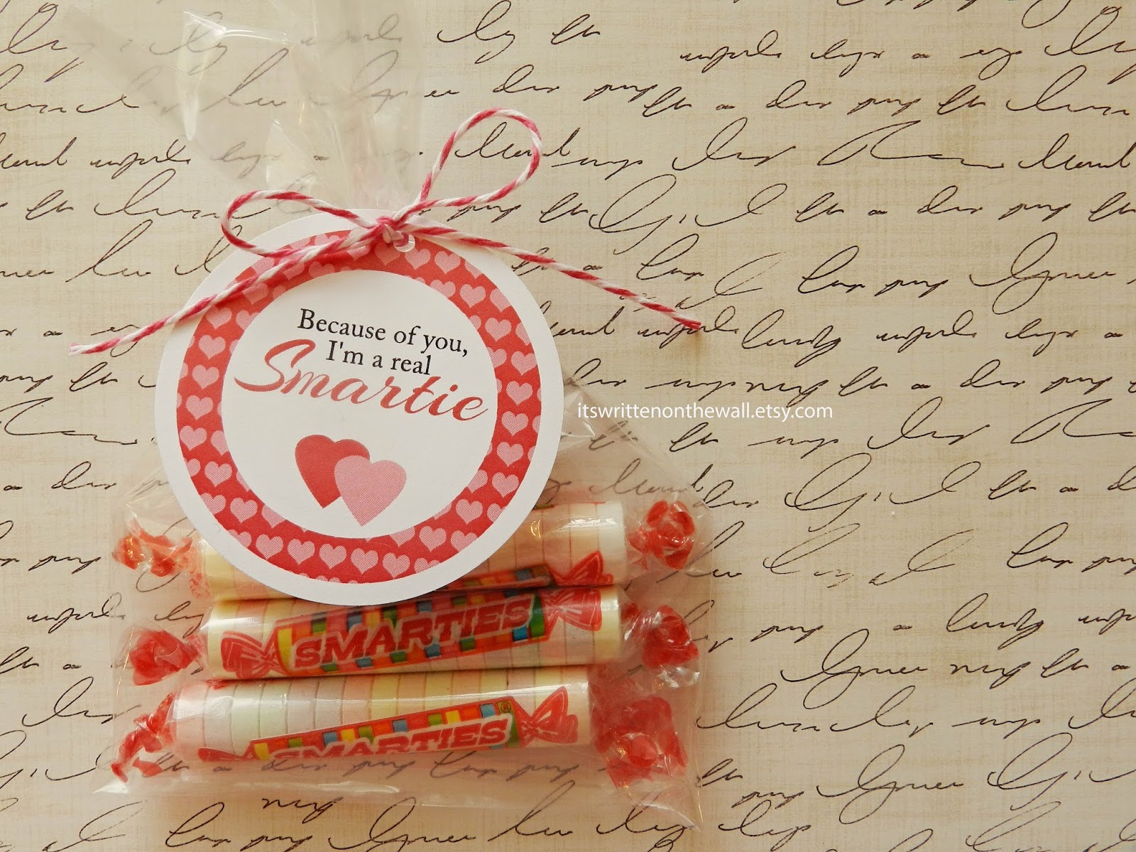 """It's Written on the Wall: """"Because of you, I'm a Smartie ..."""