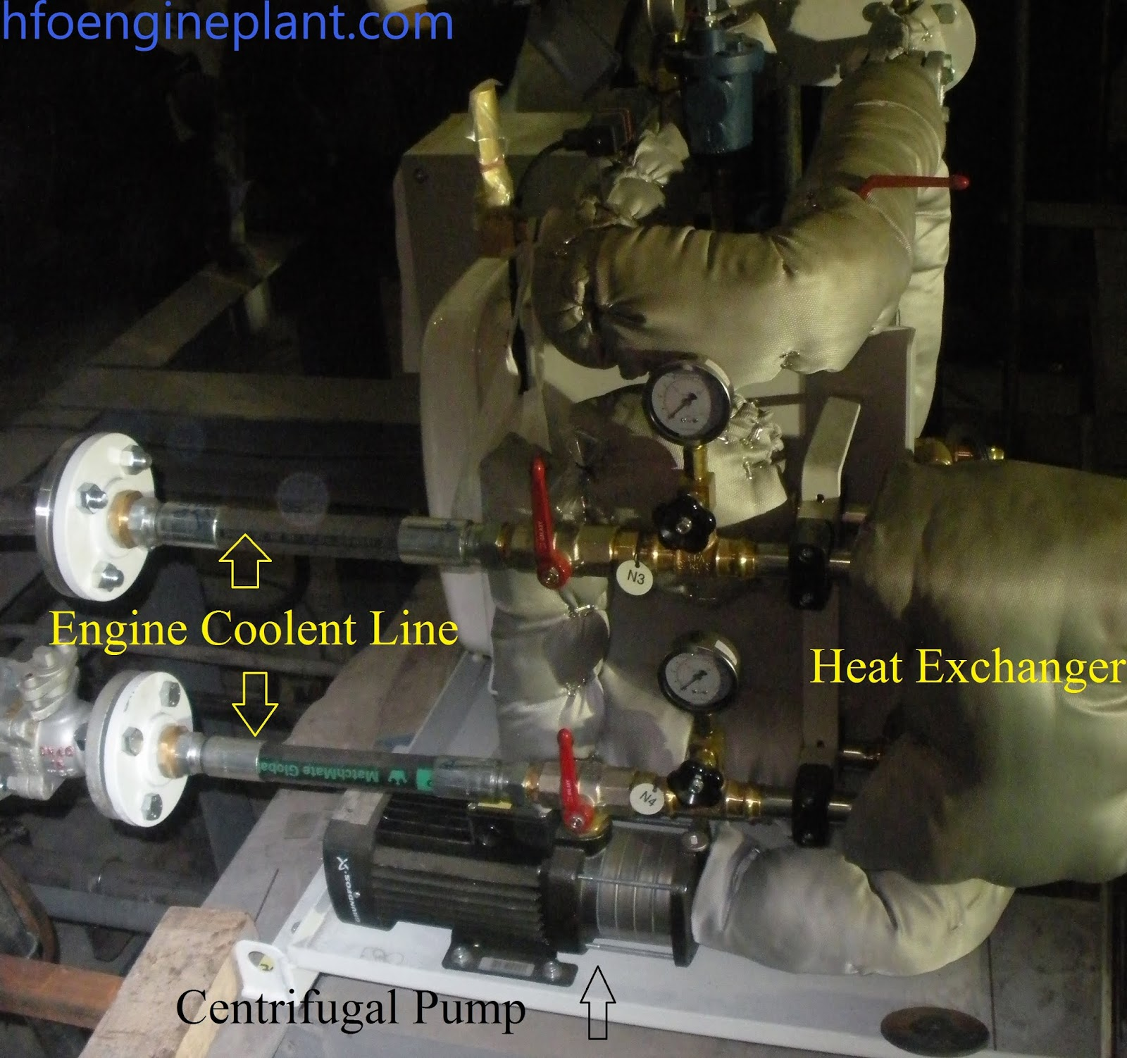 Nozzle cooling unit-Heat exchanger & Engine coolent
