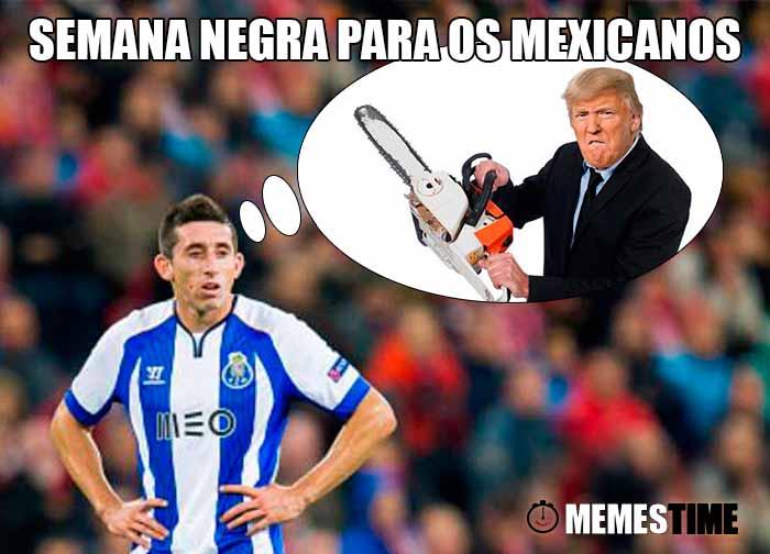 GIF Memes Time – Héctor Herrera tem pesadelos com a vitória de Donald Trump – Semana Negra para os Mexicanos (fotos base: deportes.terra.com & commdiginews.com)