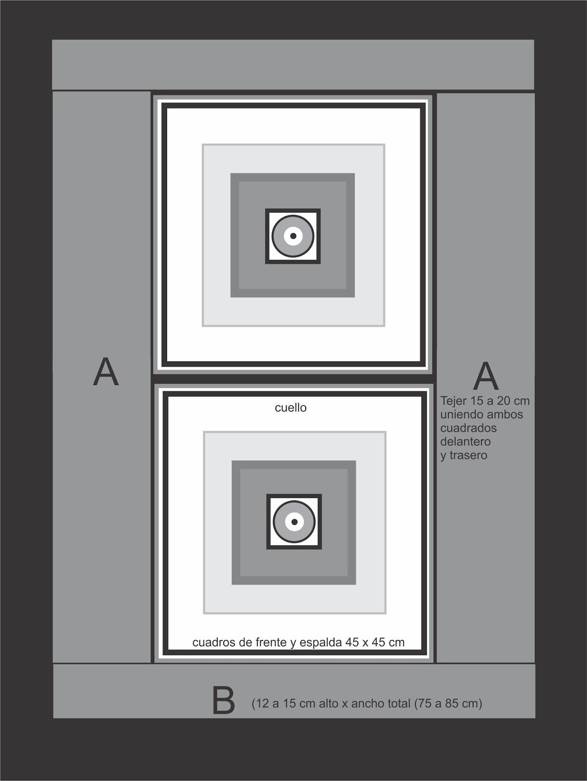 tramasencrochet: Poncho rectangular