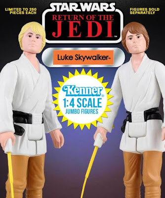 "San Diego Comic-Con 2016 Exclusive Star Wars Return of the Jedi Farmboy Luke Skywalker 12"" Jumbo Vintage Kenner Action Figure by Gentle Giant – Brown Hair Edition & Yellow Hair Edition"