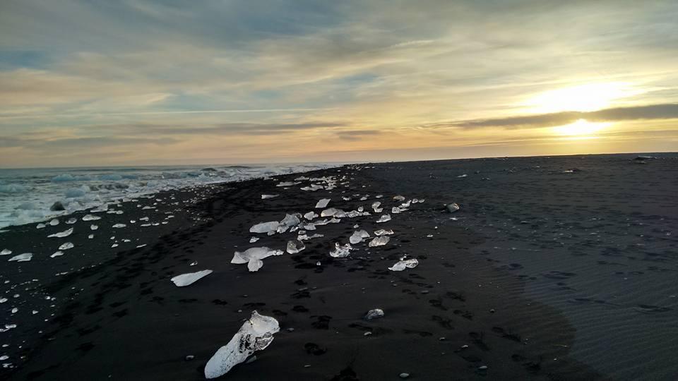 czarna plaża, Islandia, Laguna Lodowcowa