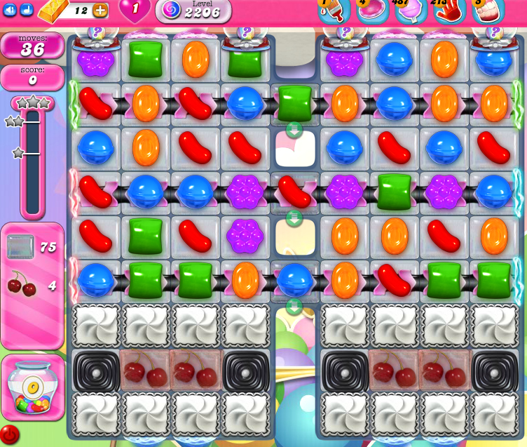 Candy Crush Saga level 2206