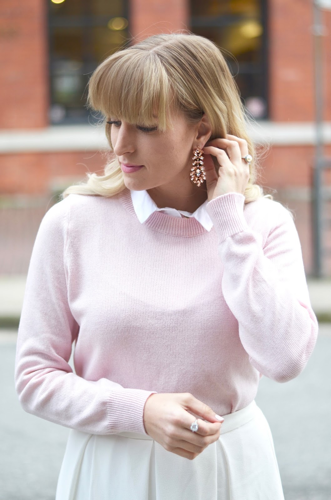 what to wear with blush and pink