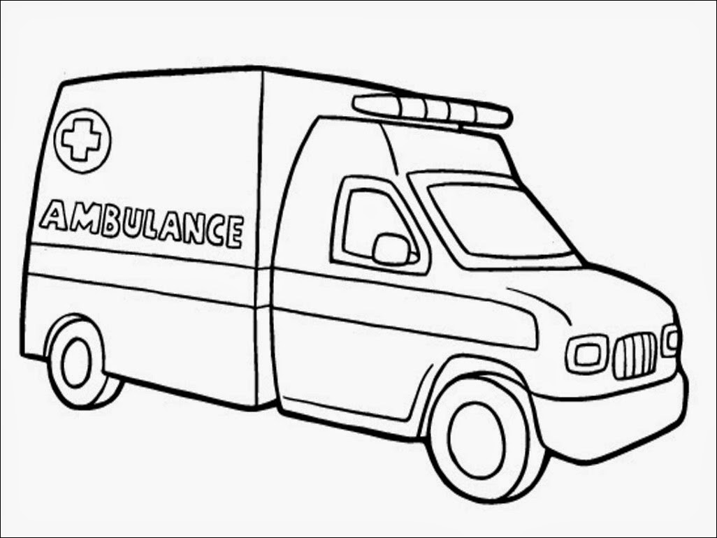 Coloring Page: Realistic Ambulance Coloring Pages