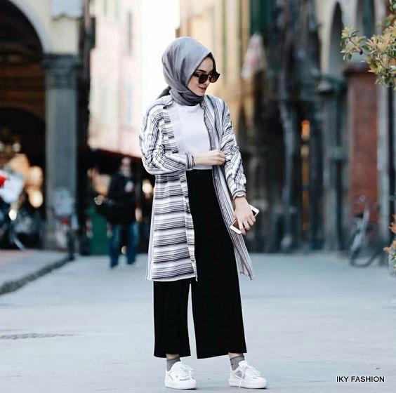 model gaya fashion hijabers remaja wanita kekinian