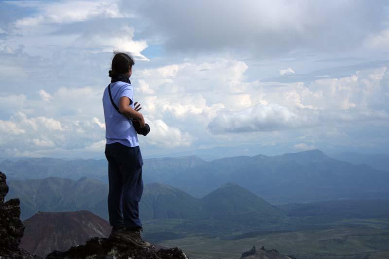 на кратере вулкана северный черпук камчатка