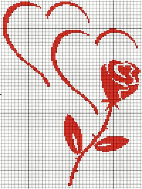 Dia dos Namorados Especial Em Ponto Cruz Com Gráficos80