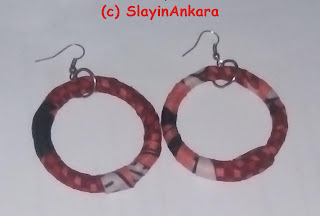 Circular Ankara earrings