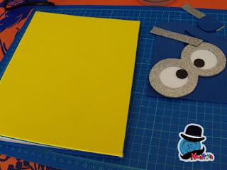 rivestire un quaderno con gomma crepla