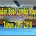 Kumpulan Soal Lomba Mapsi (Mata Pelajaran Dan Seni Islam) Sekolah Dasar Tahun 2017/2018