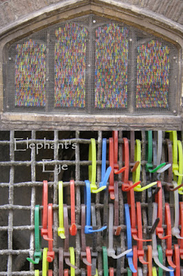 Cable tie 'stained glass' window