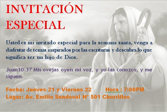 Modelos De Tarjetas De Invitación Para Reuniones Cristianas