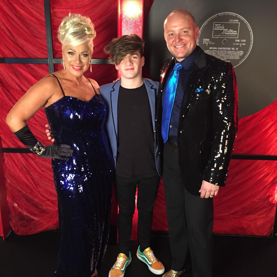 Actress Denise Welsh Hosting Dancing In The Streets Aid Of Gem Eal With Dashing Son Actor Louie Healy And Artist Husband Lincoln Townley