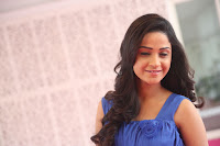 Divya Nandini stunning Beauty in blue Dress at Trendz Exhibition Launch ~  Celebrities Galleries 060.JPG