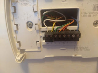 replacement thermostat wiring
