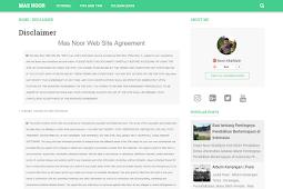 Cara Membuat Halaman Disclaimer di Blogger untuk Adsense