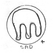Sad Icon Drawing