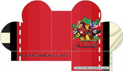 Avengers Party Free Printable Boxes.