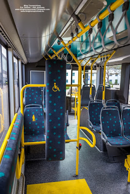 Solaris. Urbino 12 electric, In der City Bus Frankfurt am Main