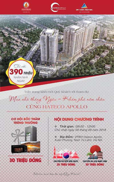 Mở bán Hateco Apollo Xuân Phương