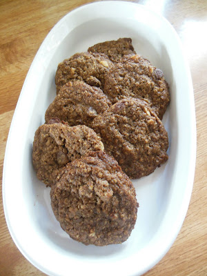 Mocha Chocolate Chip Oatmeal Cookies.Convenient freezer storage, bake as needed for the family.