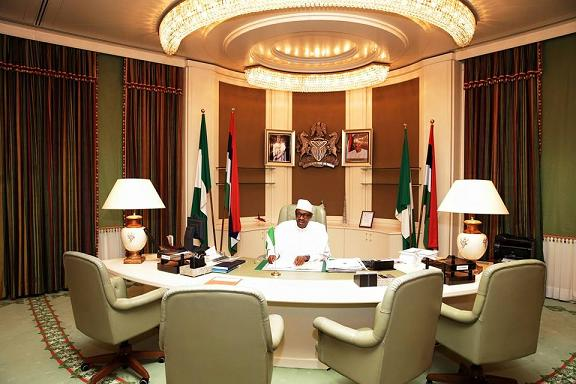 Billedresultat for Buhari in Aso rock
