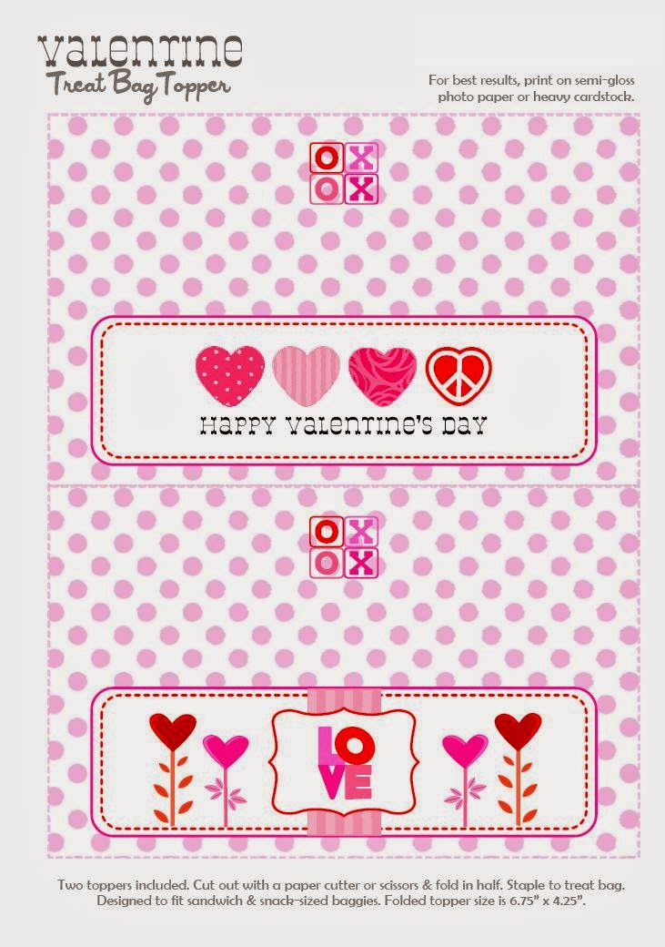 picture regarding Free Printable Bag Toppers known as Joyful Valentine´s: Totally free Printable Sweet Bag Toppers or
