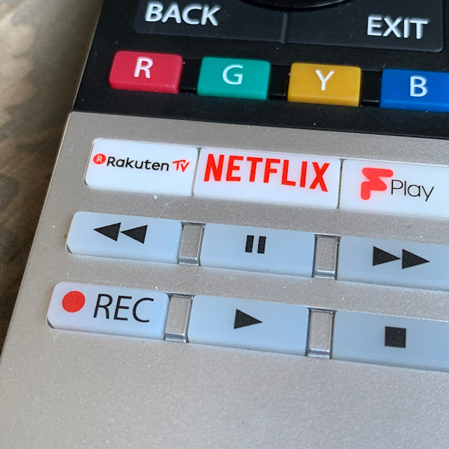 Rakuten TV button on Toshiba Remote Control