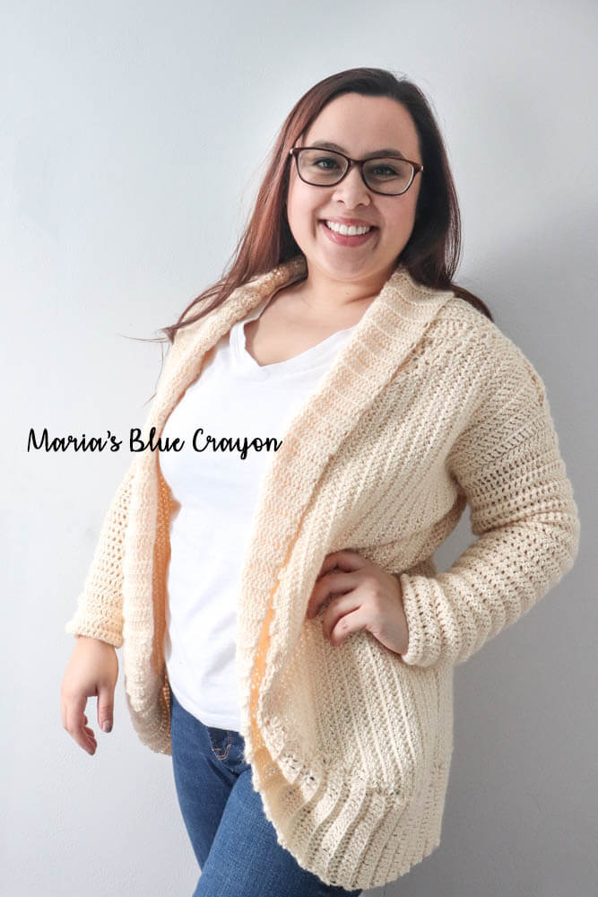 af2f93bb00054d Cardigan Shrug Free Crochet Pattern