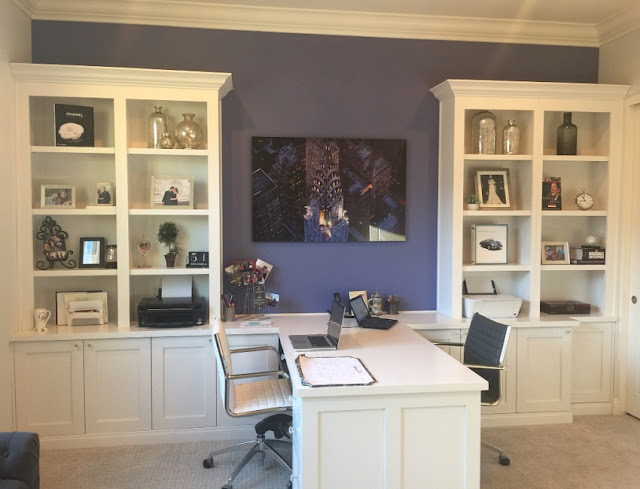 best custom home office desk not against wall for two with cupboard