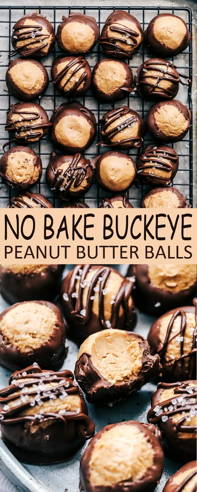 NO BAKE BUCKEYE PEANUT BUTTER BALLS