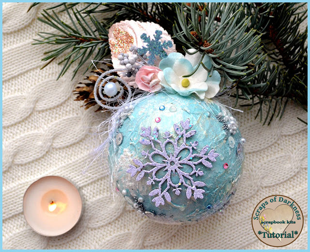 Scraps of darkness and scraps of elegance diy shabby chic - Shabby chic christmas decorations to make ...