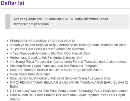 Daftar Isi Sitemap http://kios.zainalm.com/