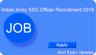 Indian Army SSC Officer Recruitment 2019