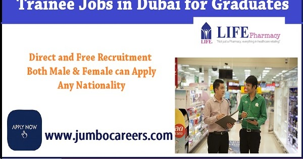 Latest Trainee Jobs in Dubai for Graduates with Salary Upto