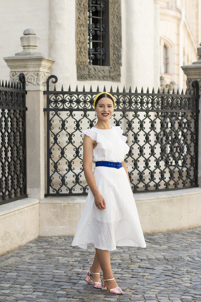 adina nanes white midi dress