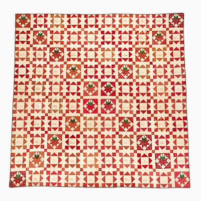 New Garden Friendship Quilt Chester County, Pennsylvania 1840