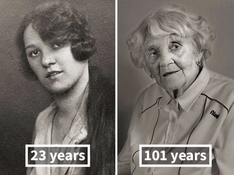 Faces of Century: These Photos of People When They Were