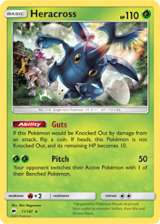 Heracross Burning Shadows Pokemon Card