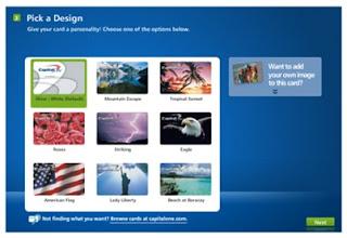 Creditonebank.com Design your own card